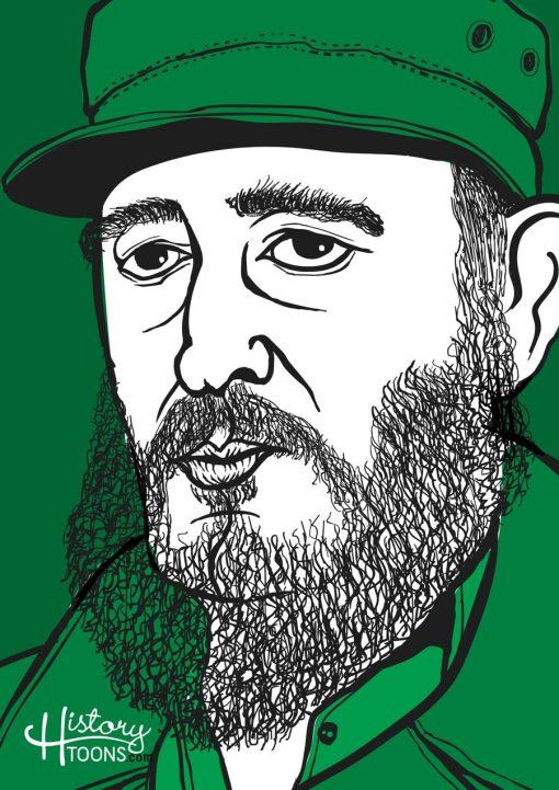 Fidel_Castro_Portrai_History_Toons_Kico_F_Uribe