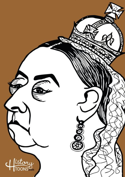 Queen_Victoria_Portrait_History_Toons_Kico_F_Uribe