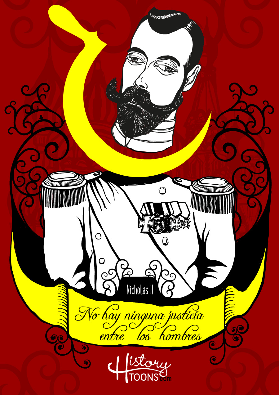 Famous-quotes-by-Nicholas-II-of-Russia_Cartoon_Portrait_Caricature_Kico_F_Uribe_History_Toons